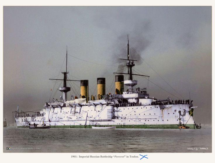 "Imperial Russian battleship ""Peresvet"", 1901."