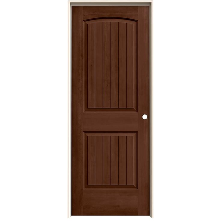 JELD WEN 25.563 In. X 81.688 In. Stained Milk Chocolate Left Hand