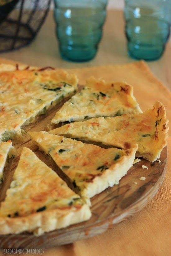 Quiché de calabacín y cebolla caramelizada | Cocinar en casa es facilisimo.com