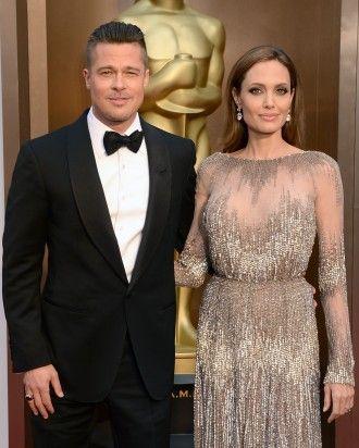 Angelina Jolie and Brad Pitt | Martha Stewart Weddings