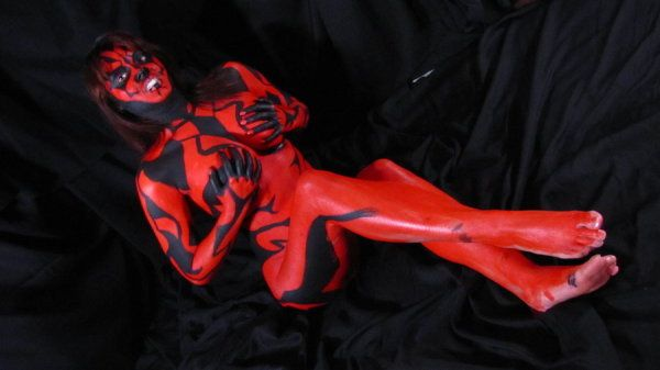 from Rayan girl in darth maul paint naked blowjob