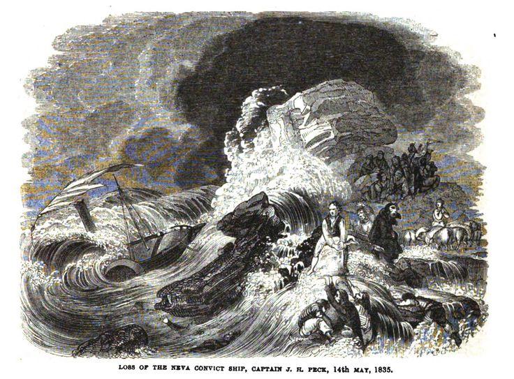 Loss of the Neva Convict Ship 14 May 1835