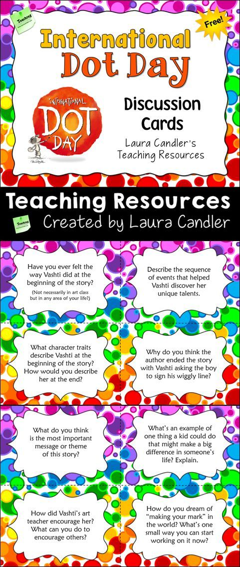 Free International Dot Day Discussion Cards from Laura Candler