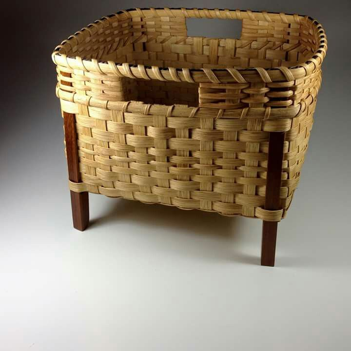 Spinning Inspiration - Fibre Basket with legs                                                                                                                                                                                 More