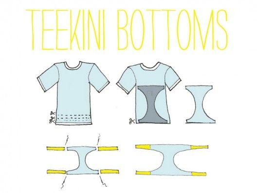 Cómo hacer un bikini con una camiseta