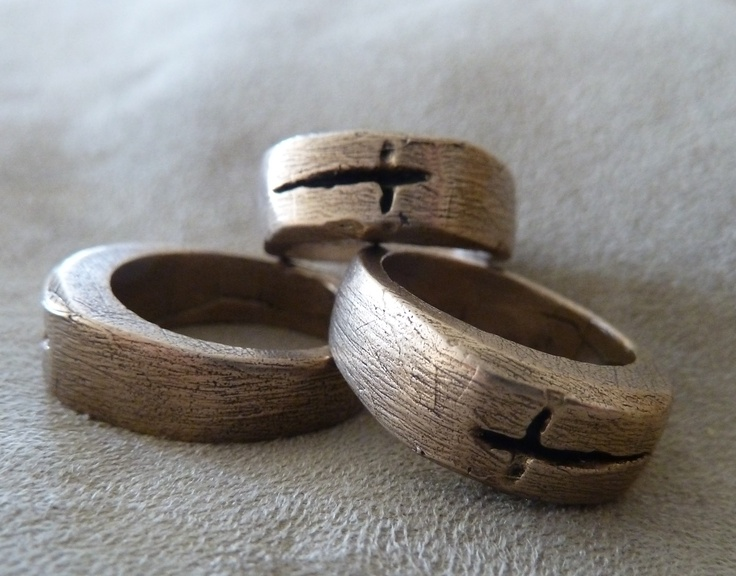 NEW NEW NEW   brushed bronze cross rings  first release at Unique LA 5/12-13