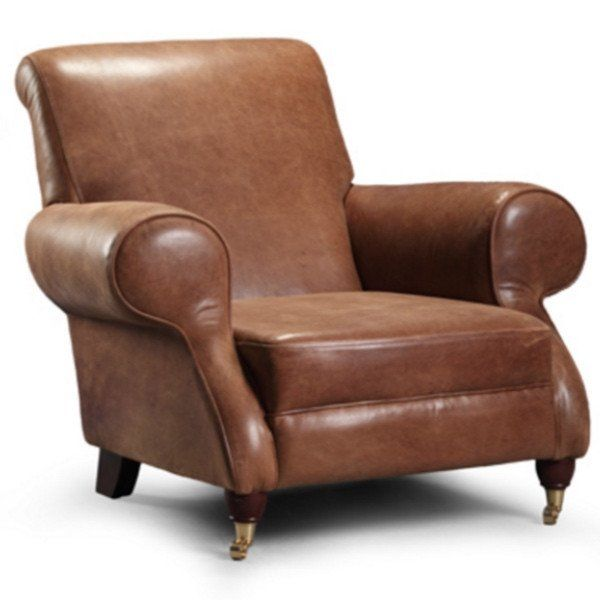 milano brown cerate leather club chair part of our bespoke leather furniture group