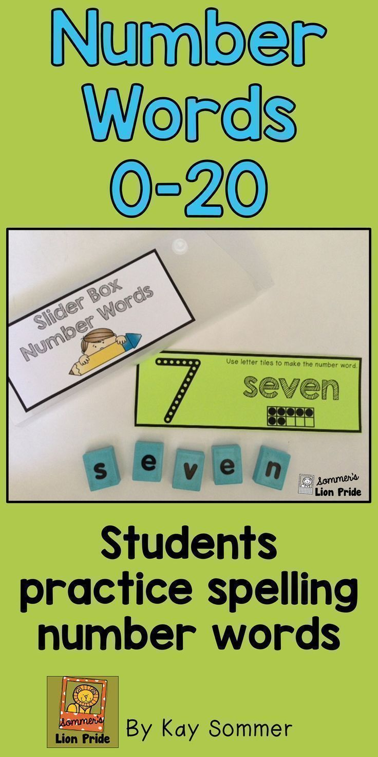 Slider Box Number Words Perfect To Use In Your Math Centers For Reinforcement For Number Words 0 20 Use Pla Number Words Free Math Lessons Teaching Numbers [ 1472 x 736 Pixel ]