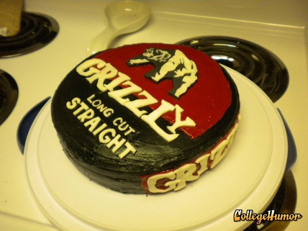 grizzly tobacco cake. Totally making this for his birthday
