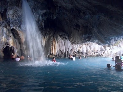 Tolantongo Caves (hot spring); Mexico... PRETTY sure I need to go here, Now.