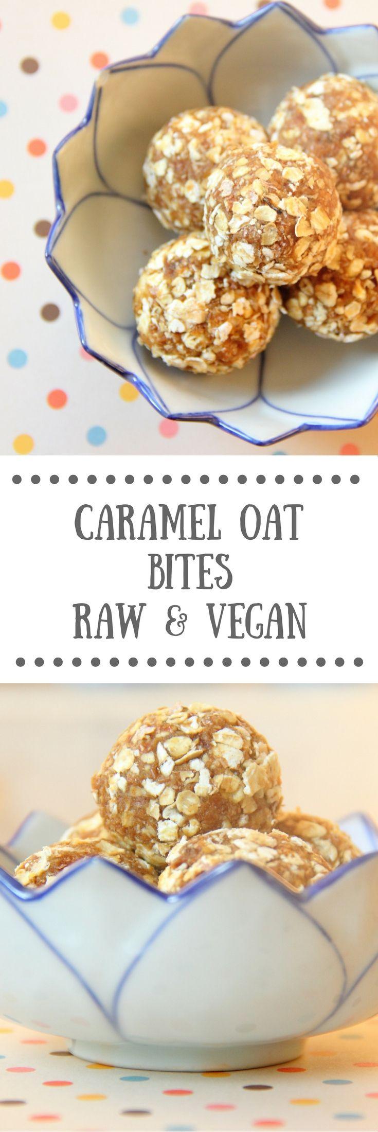 Caramel Oat Bites | Easy Vegan Bliss Balls Recipe