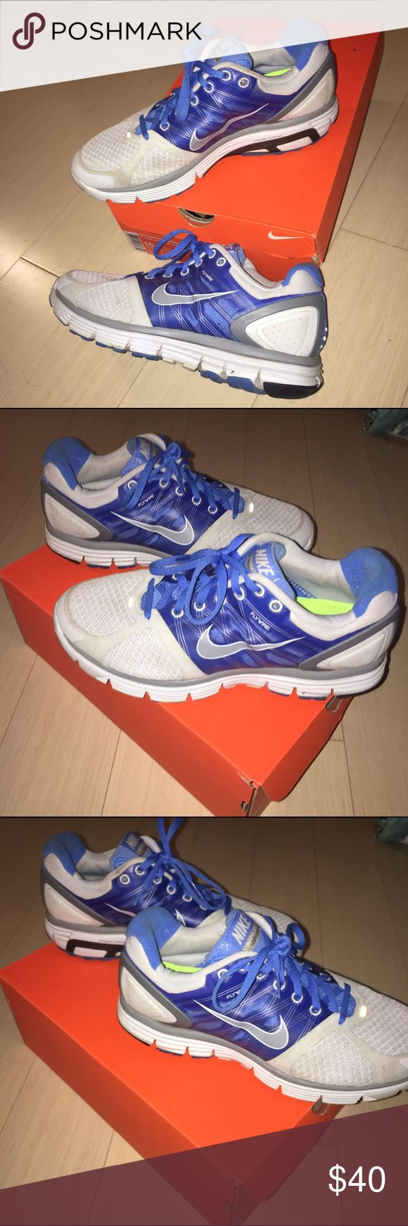 Nike Lunarglide 2 Flywire Sneakers. Size 10W. Bike Lunarglide 2 Flywire Sneakers. Women's Size 10. Worn a handful of times, minor embellishments but overall in great condition. Minimal wear on the bottoms of the sneakers. Original price an estimate. Nike Shoes Athletic Shoes