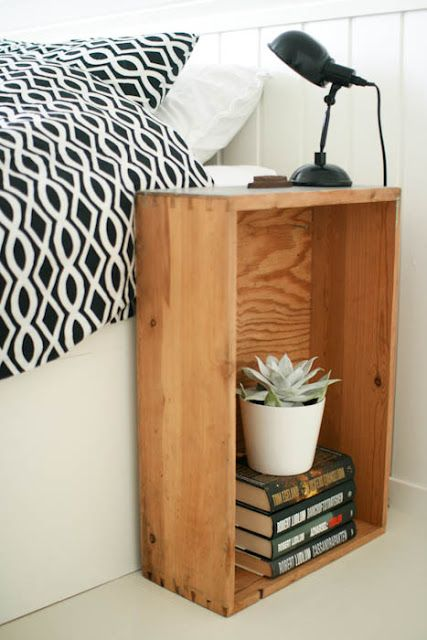 Love this little bookcase/table/nightstand