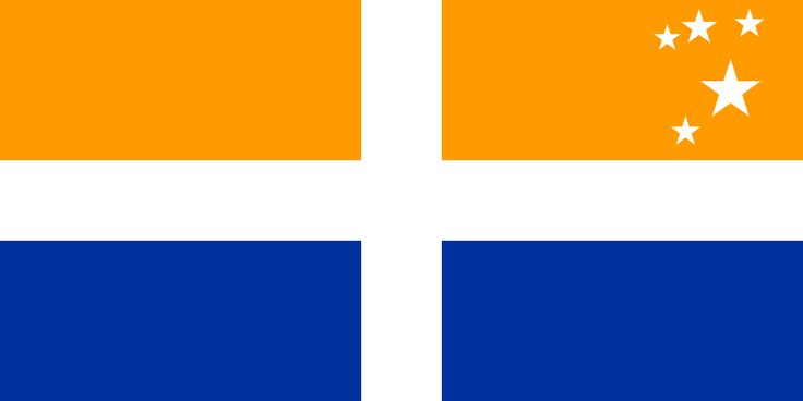 The Scillonian Cross, the official flag of the Isles of Scilly.