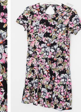 Kup mój przedmiot na #vintedpl http://www.vinted.pl/damska-odziez/krotkie-sukienki/13431962-3-za-2-kolorowa-mini-sukienka-w-kwiaty-wyciecie-na-plecach