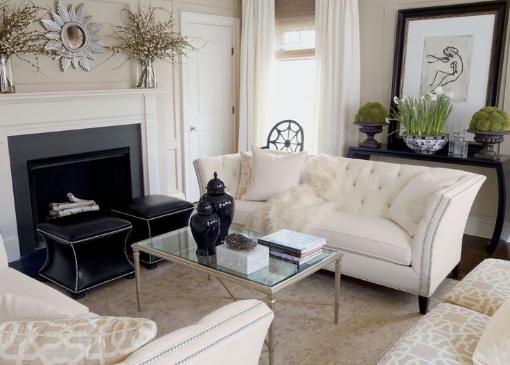 1000 ideas about cream living rooms on pinterest cream for Black front room furniture