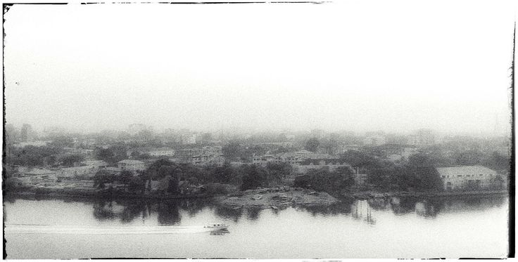 #morning #mist in #lagos - #ipad_photo #black_and_white #andreaturno #panorama @andreaturno #cityscape #nigeria #africa #vintage
