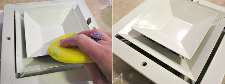 how to clean vents with wax