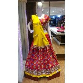 Cotton ghaghra choli and dupatta-02