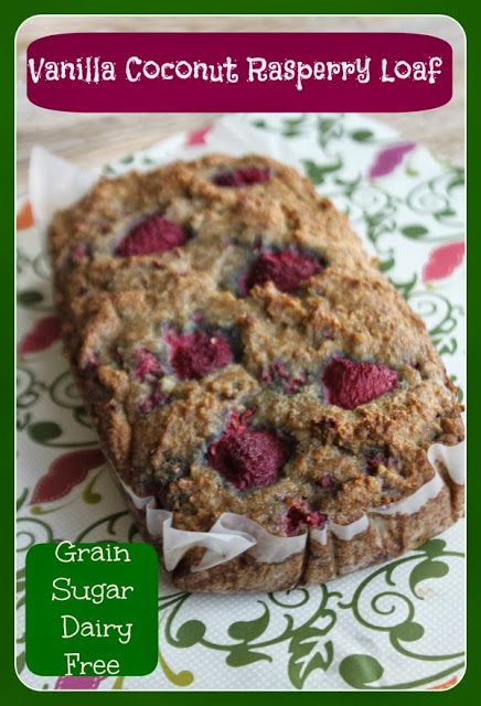 MamaEatsClean: Vanilla Raspberry Coconut Loaf - honestly - these dairy, sugar and grain free loaves are getting me through this diet. And I feel amazing. Its been almost one month since I restarted the strict phase and its working..........and a couple of organic raspberries never killed anyone - in moderation.