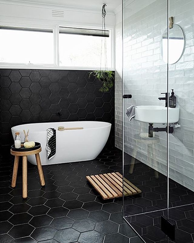 COCOON modern bathroom inspiration bycocoon com   black   white   stainless  steel bathroom tapsTop 25  best Modern bathroom tile ideas on Pinterest   Modern  . Black And White Bathrooms Images. Home Design Ideas