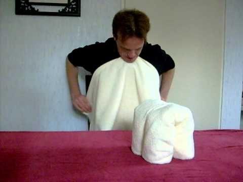 How to fold a towel animal - Handdoeken vouwen Olifant part.2