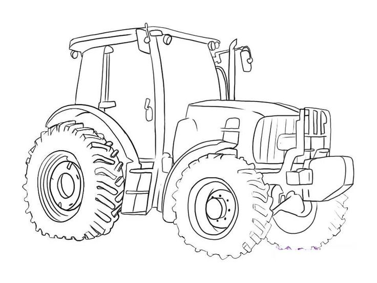 tractor coloring pages ford - photo#11
