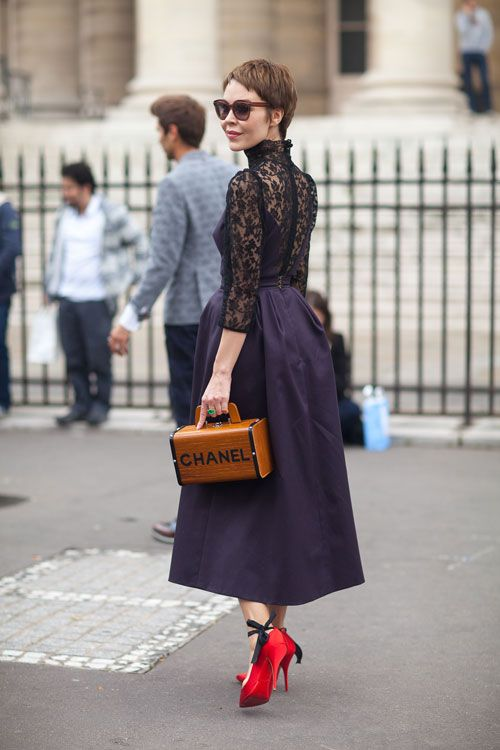 Paris Street Style Fall Couture 2013