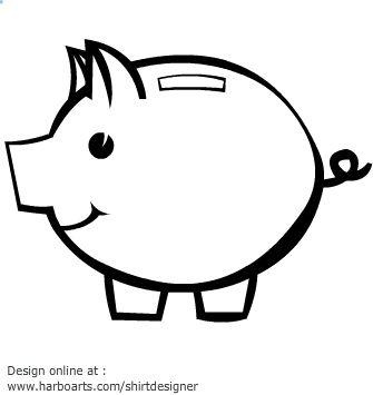 41 best images on pinterest piggy banks piggy bank craft and diy for Piggy bank templates
