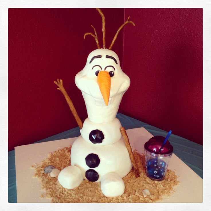 Disney's Frozen!  The cake I made for my daughters birthday party. 2014.