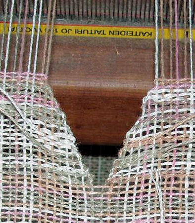 V-neck Shaping on the Loom