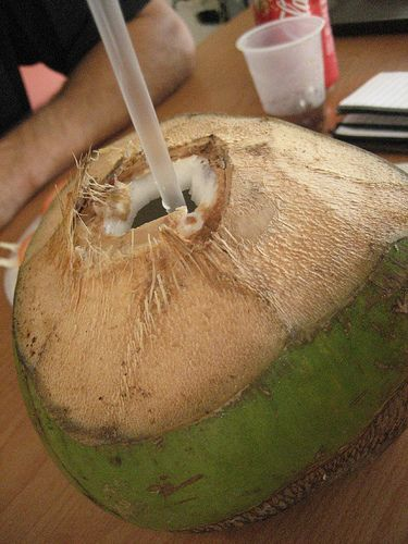 Fresh coconut water... I miss this so much!!!!!!!