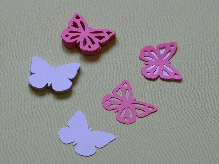 "Set+Farfalle++di+Carta++""Garden""+in+2+Colori+50+Pz+di+PaperLoveFantasy+su+DaWanda.com"