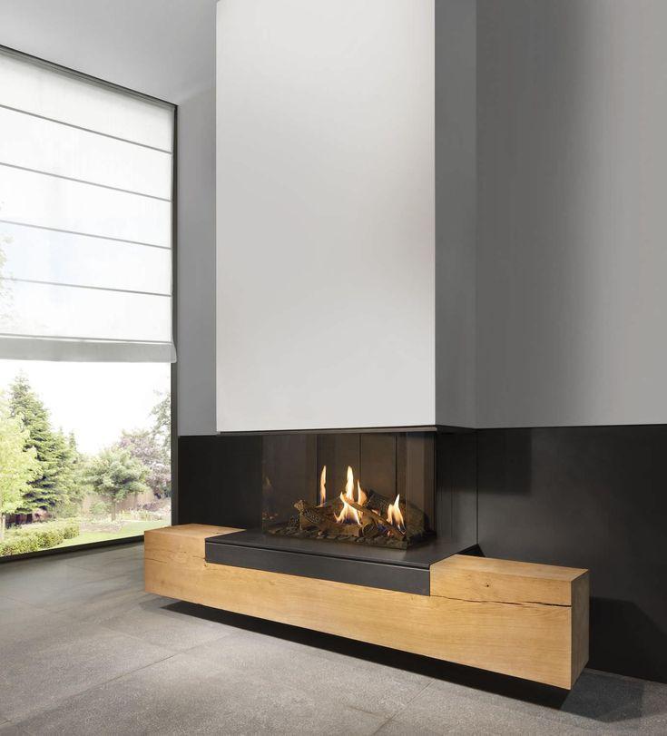 KAL FIRE Cheminée à gaz / à 3 faces / à foyer fermé / contemporaine FAIRO ECO-LINE 70 Kal-fire