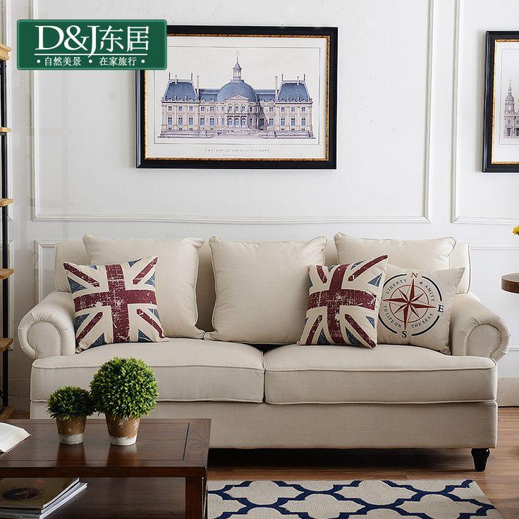 Восток дом американский страна диван средиземноморье pastoral ветер грузия квартира один двойной три ткань диван сочетание