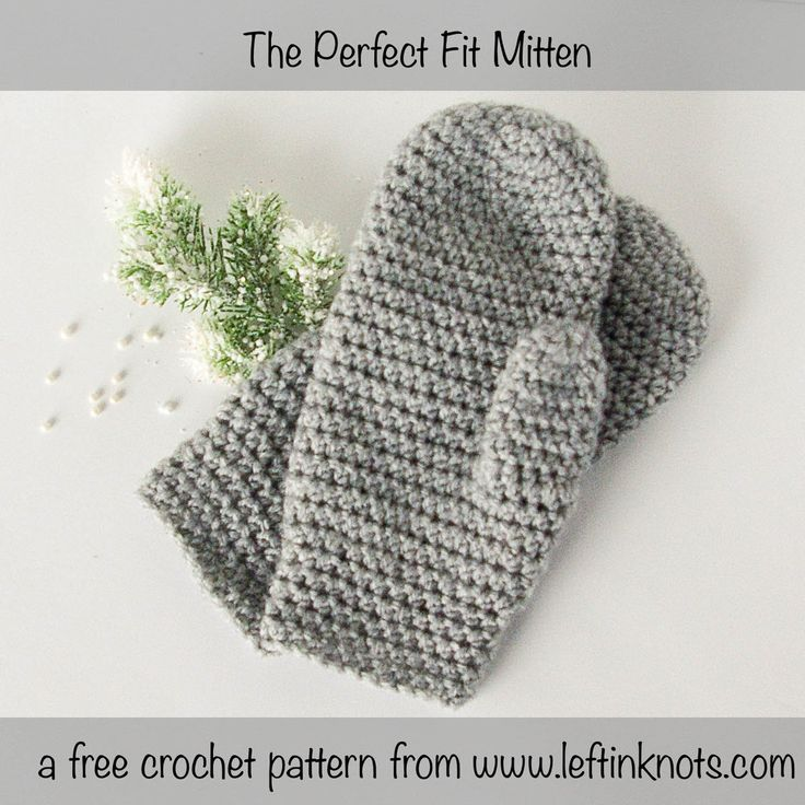 "These mittens will fit you perfectly because they can be easily customized  in length!  They are the next pattern in my ""Crochet Basics"" series, which  means they are simple and adorable.  Perfect for learning, teaching,  selling or gifting!"