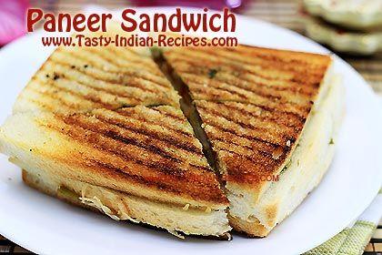 How to make Paneer Sandwich - Paneer Sandwich Recipe