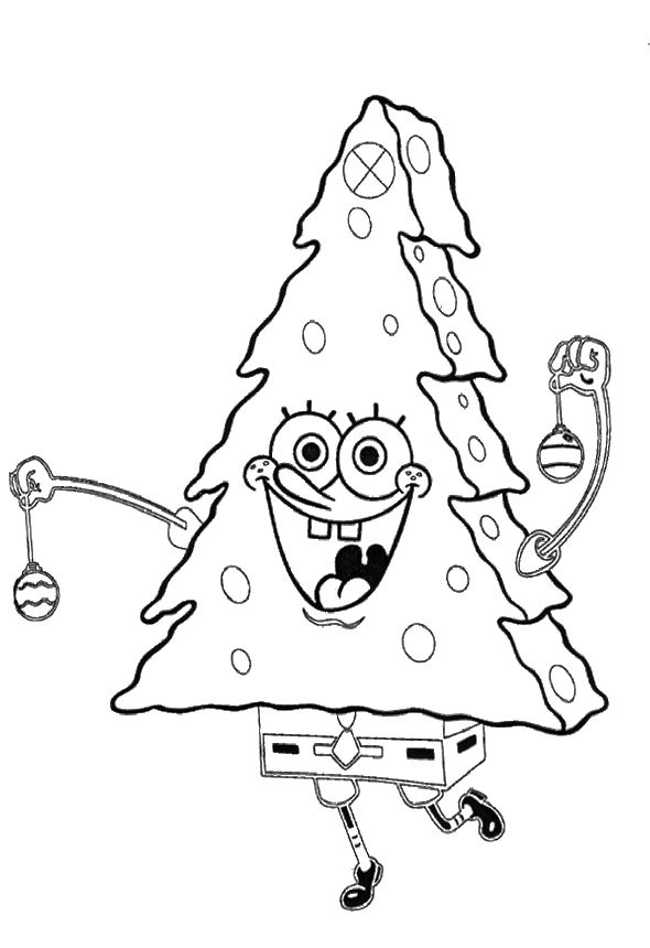 Christmas Tree Spongebob Coloring
