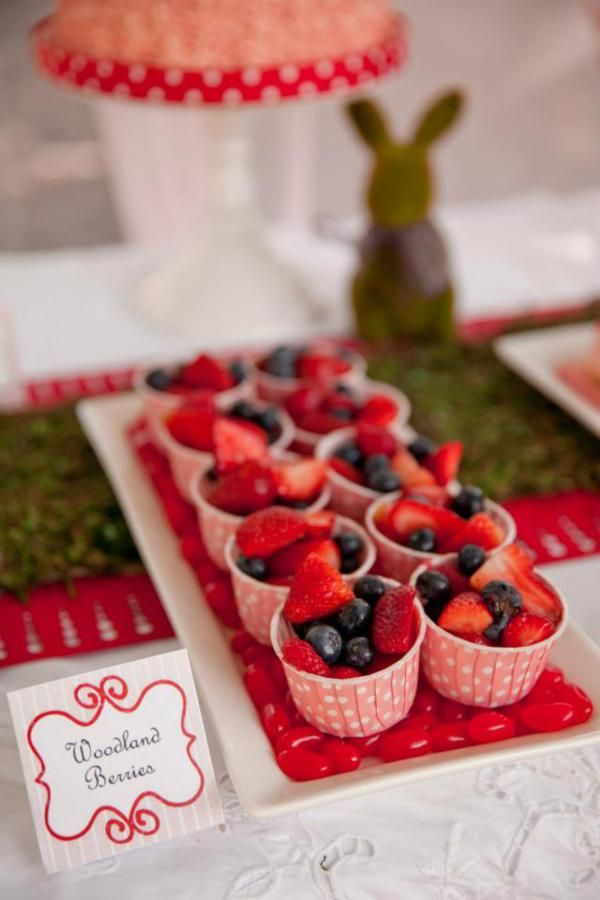 """Enchanted Fairy Woodland Pixie Girl Birthday Party Planning Ideas: """"woodland berries"""""""