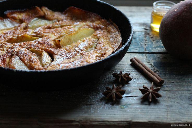 Pear pancake Recipe and photo by Sari Mattsson