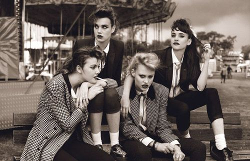Modern take on Teddy Girls, 1950s bad girl style from across the pond.