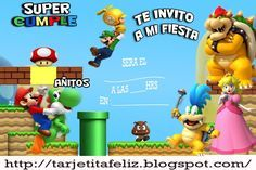 Invitaciones De Cumpleaños De Mario Bros Para Descargar Gratis 18 en HD Gratis
