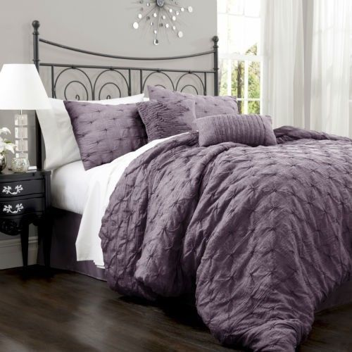 LUSH Lake Como Purple King Size Comforter Set 4 Pieces New In Bag Beautiful. 44 best Bedspreads images on Pinterest   Bedroom  Bedroom ideas