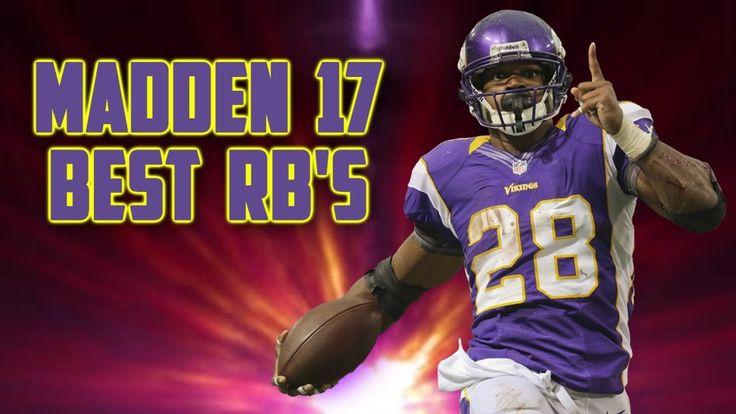 Madden NFL 17 Ratings | Top Running Backs - Player Ratings Predictions F...