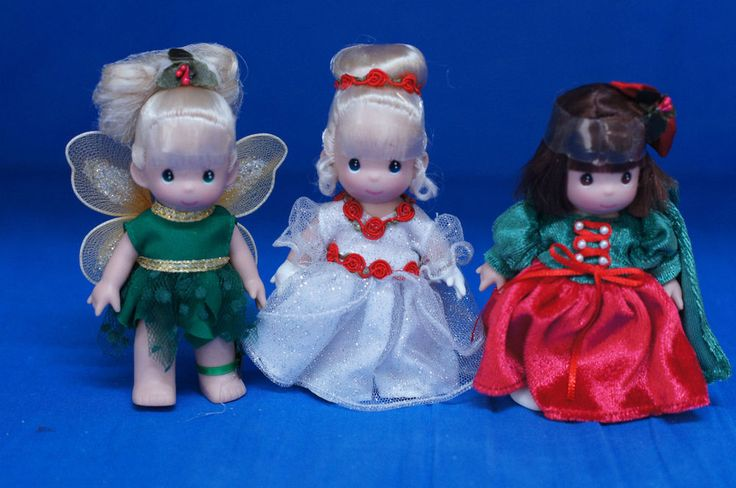 "Tinker Bell Cinderella Snow White 5"" Christmas Doll Set Precious Moments LE 100 #PreciousMoments #Dolls"