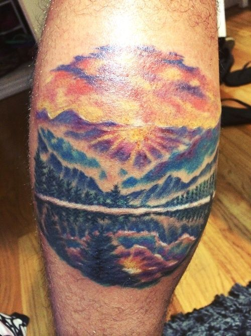 48 best mountain scene tattoos images on pinterest for Huntington beach tattoo