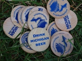 Drink Michigan Beer buttons