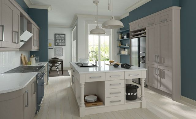 Madison Painted Fitted Kitchen Lava & Mussel