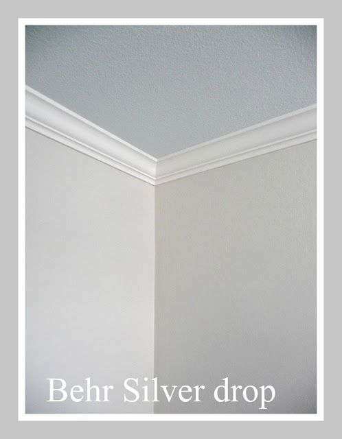 Behr Silver drop trim swiss coffee Love love this color! This was the color of my last bedroom! Very relaxing!!!