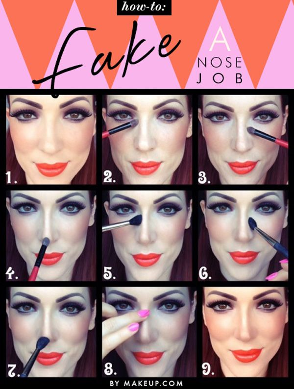 how to contour your nose with makeup // love this tutorial, it totally changes the look of your nose! incredible.